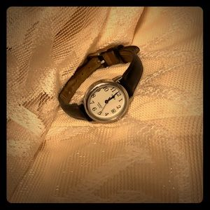 Black Genuine Leather watch
